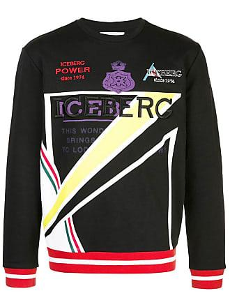 Iceberg logo embroidered sweater - Black