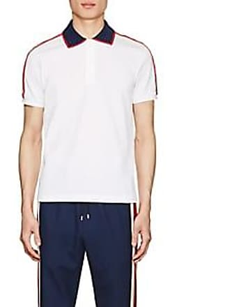 6f17ca5761a Gucci Mens Logo-Detailed Cotton Piqué Polo Shirt - White Size L