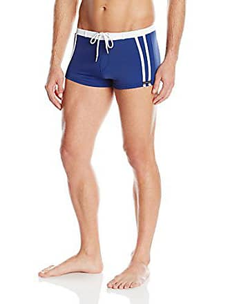 50c7030b95 Delivery: free. Sauvage Mens Riviera Square Cut Swim Trunk, Navy, X-Large