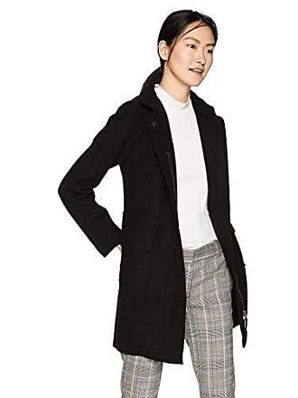A|X Armani Exchange Womens Wool Pocket Pea Coat, Black, L