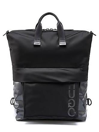 ea08b36aa09 HUGO BOSS Twee-in-één tas in gabardine van technisch materiaal met gecoate  details