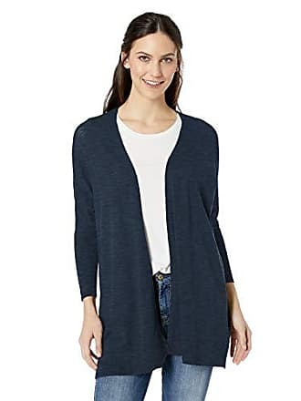 Daily Ritual Womens Lightweight Cocoon Sweater, Navy, Medium