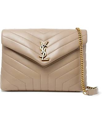 Saint Laurent Loulou Medium Quilted Leather Shoulder Bag - Beige
