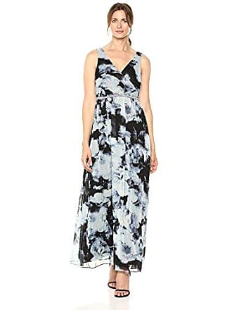 S.L. Fashions Womens Sleeveless Bead Waist Maxi Dress, Multi, 8