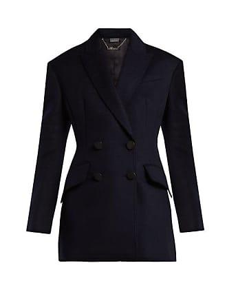 Alexander McQueen Alexander Mcqueen - Double Breasted Virgin Wool Jacket - Womens - Navy