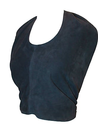f242a715f308e Chanel Navy Suede Halter Top - 38 - 2002