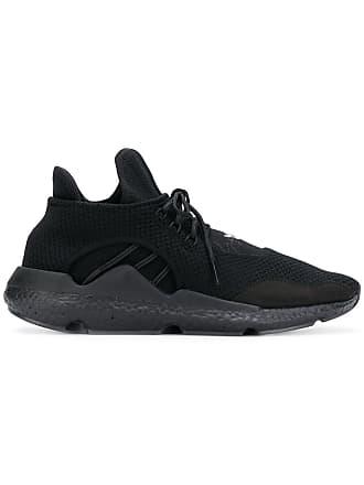 Yohji Yamamoto black lace-up Saikou leather sneakers