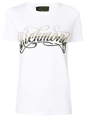 John Richmond Camiseta com aplicação de cristais - Branco