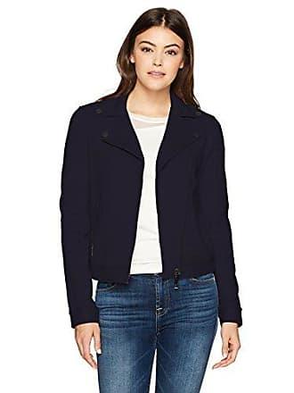 A|X Armani Exchange Womens Moto Jacket, Navy XL
