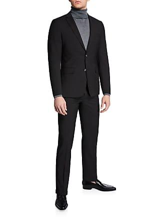 Neiman Marcus Mens Mini Neat Weave Slim Fit Two-Piece Suit
