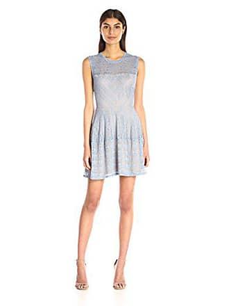 Bcbgmaxazria BCBGMax Azria Womens Cassandra Lace Dress, Shadow Blue, Medium