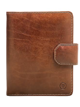 Maxwell Scott Maxwell Scott - Luxury Tan Leather A5 Padfolio