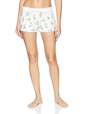 PJ Salvage Womens Cozy Lounge Pajama Shorts, White, X-Large
