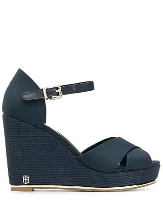 9970284ffdc Tommy Hilfiger high wedge sandals - Blue
