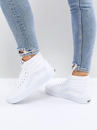 Vans Classic - Sk8 hoge sneakers in wit