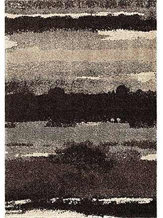 Orian Rugs Wild Weave Canyon Slate Area Rug, 53 x 76, Black