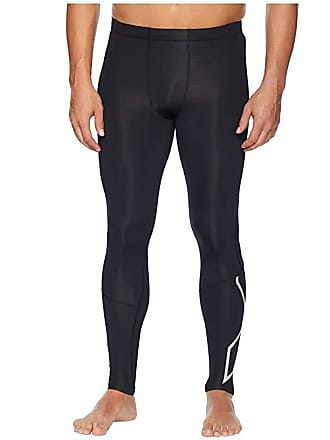 2XU Run Compression Tights (Black/Silver Reflective) Mens Workout