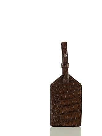 Brahmin Mens Luggage Tag Cocoa Brown Vintage Melbourne