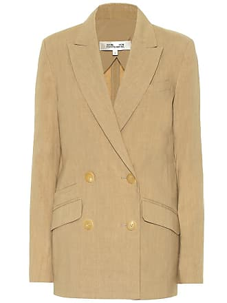 Diane Von Fürstenberg Madison double-breasted linen blazer
