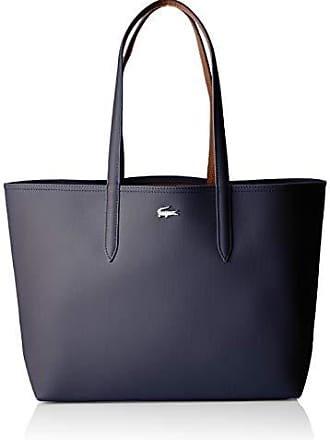 b15551ad84 Lacoste femme Nf2142aa Sac porte epaule Bleu (Peacoat Cashew)