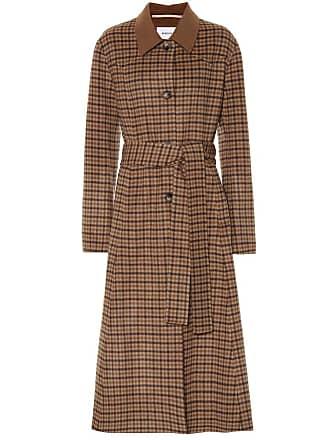 Nanushka Sira checked wool and silk coat