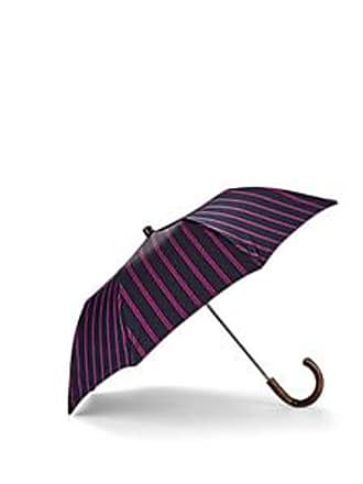 Barneys New York Mens Double-Striped Folding Umbrella - Brown