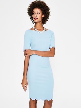 Boden Emma Ponte Dress Heron Blue Women Boden