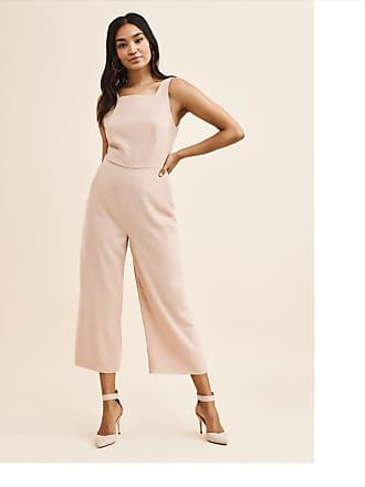Dynamite Dakota Tie Back Jumpsuit Rugby Tan