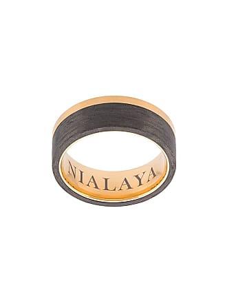Nialaya Anel de aço inoxidável com recortes contrastantes - Amarelo