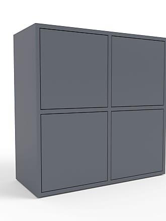 MYCS Sideboard Anthrazit - Designer-Sideboard: Türen in Anthrazit - Hochwertige Materialien - 79 x 80 x 35 cm, Individuell konfigurierbar