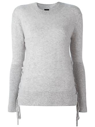 Rta cashmere lace up jumper - Cinza