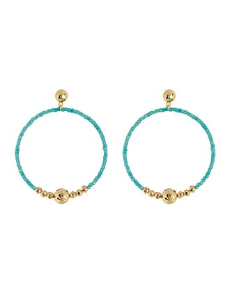 Gorjana Sayulita Beaded Hoop Drop Earrings