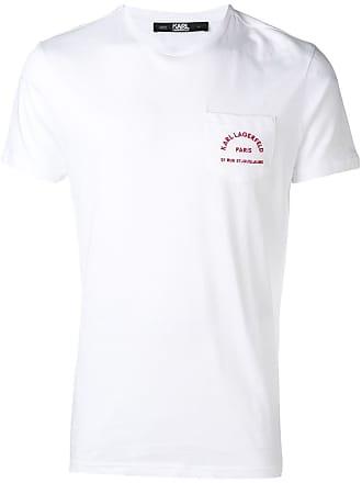 Karl Lagerfeld Camiseta com bolso - Branco