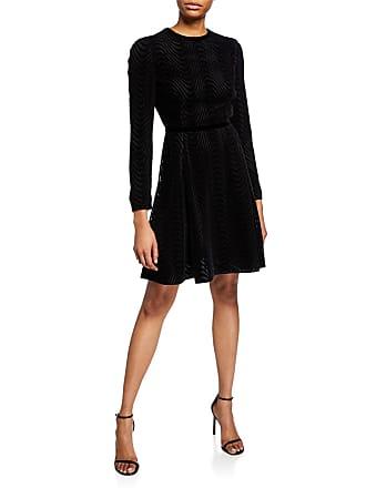 901f99b6928 Emporio Armani Open-Back Wavy Lace   Velvet Cocktail Dress