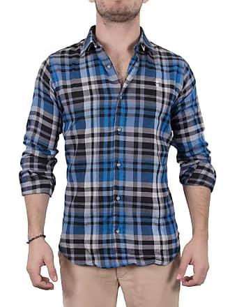 Sergio K. Camisa Xadrez Madras Azul