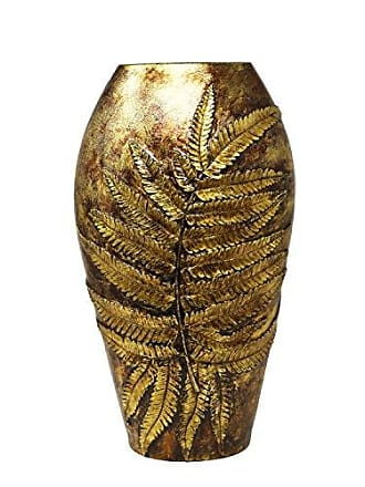 Sagebrook Home 13076-04 Polyresin Vase, 10.5 x 6.25 x 18, Gold