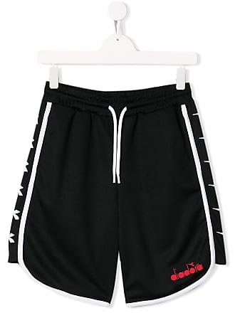 Diadora Shorts com logo - Preto