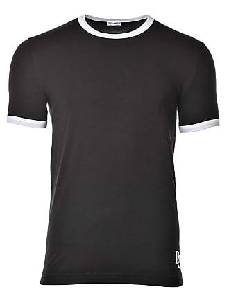 d63b5e98054f Dolce   Gabbana Herren T-Shirt Underwear Girocollo Rundhals Uni - Schwarz