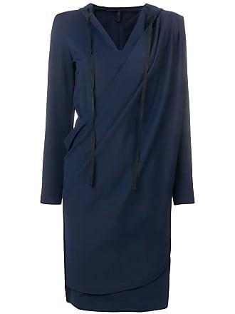 Unravel wrap hoodie dress - Blue