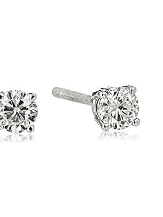 Amazon Collection IGI Certified 14k White Gold Round-Cut Diamond Studs (1/4 cttw, H-I Color, I1 Clarity)