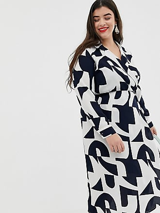 895078b57d7 Vero Moda Curve geo print shirt midi dress - Multi