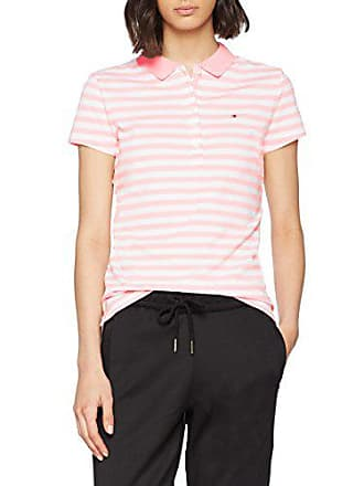 Tommy Hilfiger New Chiara STR Pq Polo SS Femme, Rose (Orchid Pink Classic 9be533208cd6