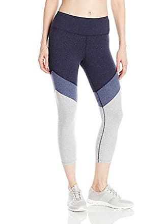 e4b361f14212b Calvin Klein Performance Womens Color Block High Waist Crop Legging, Indigo  Heather Combo XL