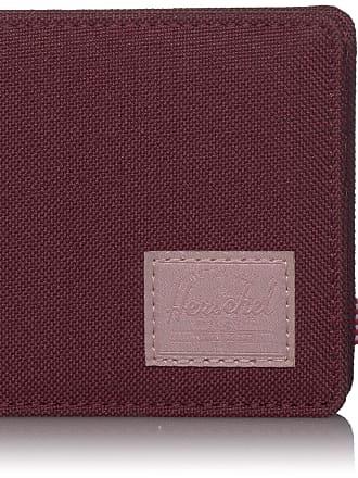 Herschel Herschel Mens Roy + Coin RFID Bi-Fold Wallet, Plum/Ash Rose, One size