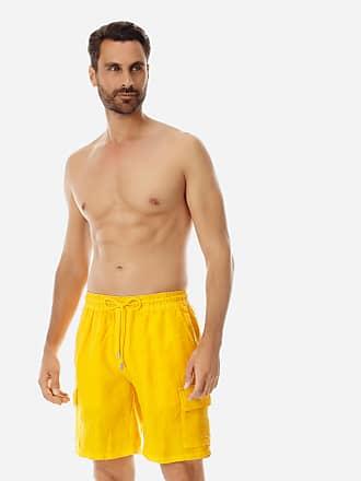 Vilebrequin Men Ready to Wear - Men Cargo Linen Bermuda Shorts Solid - BERMUDA - BAIE - Orange - 4XL - Vilebrequin