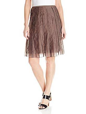 Nic+Zoe Womens Batiste Skirt, Mushroom, 6