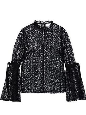 Alice McCall Alice Mccall Woman Just Lust Bow-detailed Lace Blouse Black Size 10