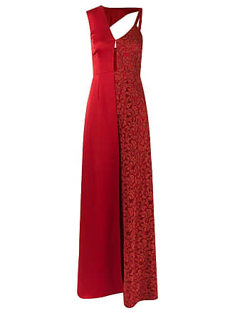 17863600fda Tufi Duek Vestido de renda longo assimétrico - Vermelho