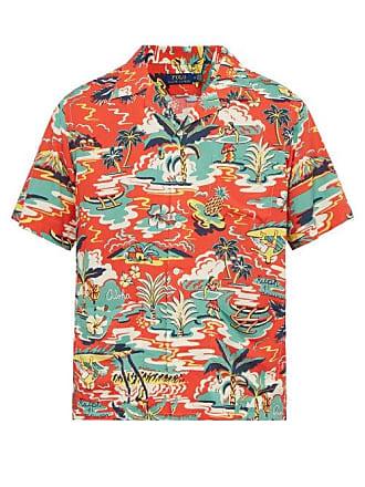 Polo Ralph Lauren Hawaiian Print Short Sleeved Shirt - Mens - Red Multi