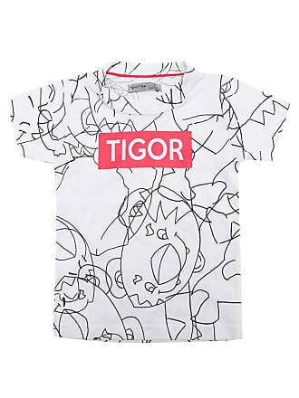Tigor T. Tigre Camiseta Tigor T. Tigre Menino Escrita Branca